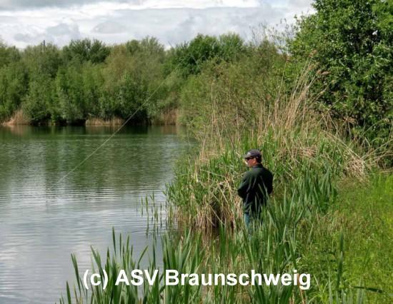 Fliegenfischen am See Brockenblick